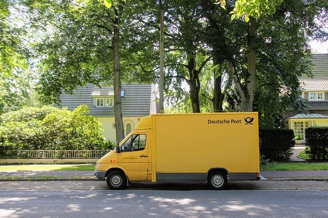 poštovní dodávka